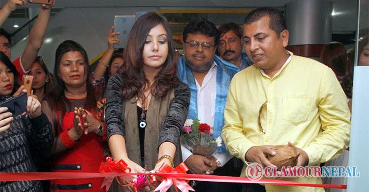 karishma manandhar inaugurating neel david's beauty saloon