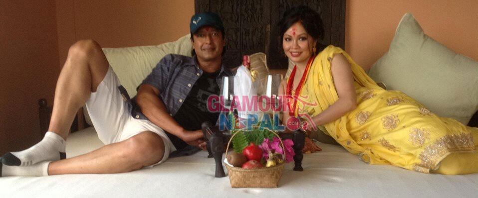 Rajesh Hamal and Madhu Bhattarai Ready to Celebrate Honey Moon Night