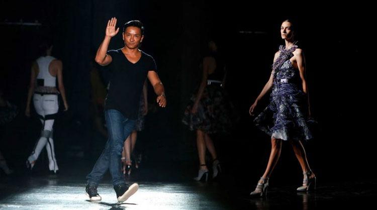 Designer Prabal Gurung, after his Spring 2015 collection show during Fashion Week, 6 Sept. 6, 2014, in New York. Photo: Jason DeCrow / AP