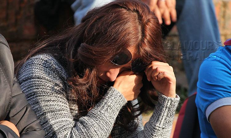 Namrata-Shrestha-Crying
