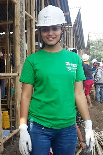 Actress Richa Sharma busy to building houses in Chitwan