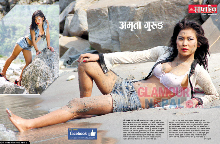 Model Amrita Gurung Kantipur Saptahik Poster | Photo: Nabin K Shrestha