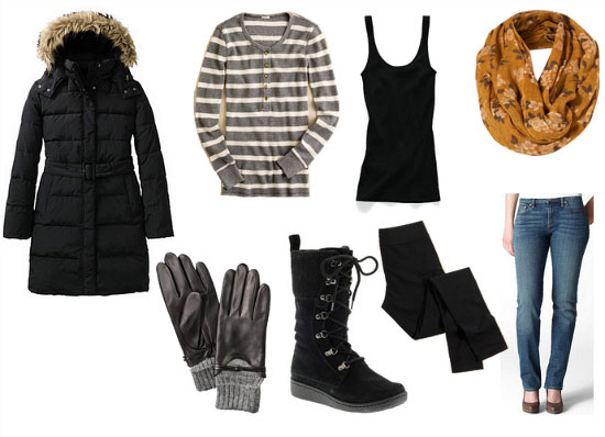 dressed in winter