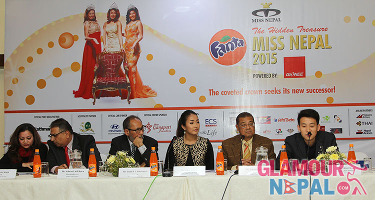 miss nepal 2015 press meet