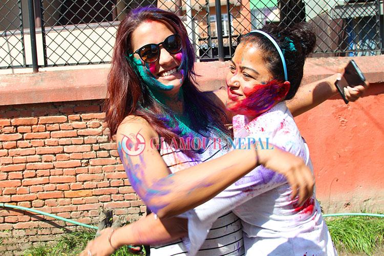 Actress Priyanka Karki and Rekha Thapa