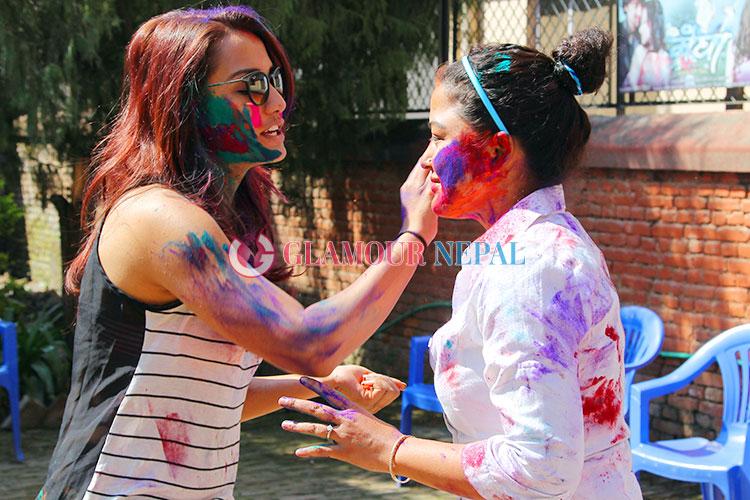 Actress Rekha Thapa and Priyanka Karki