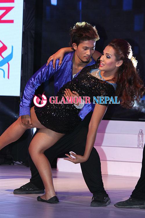 Actress Priyanka Karki Performing a dance