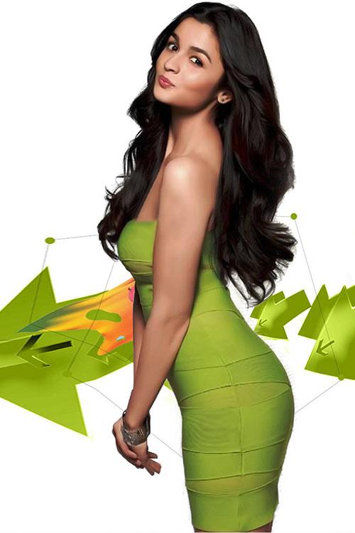 Alia Bhatt HD green