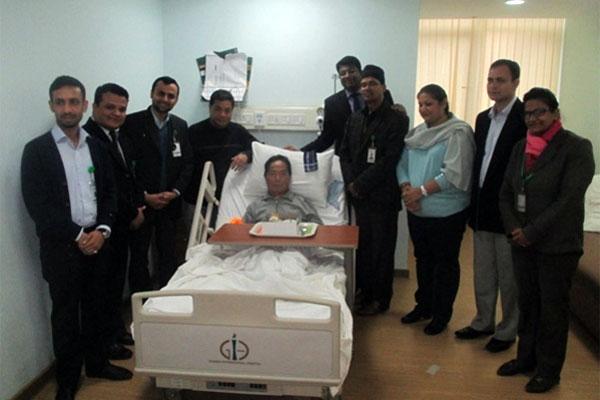 ambar gurung in hospital