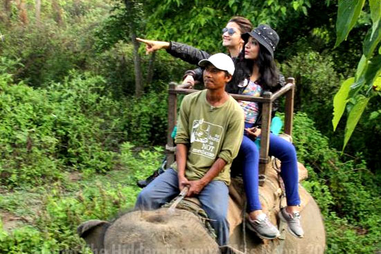 miss nepal in chitawan national park