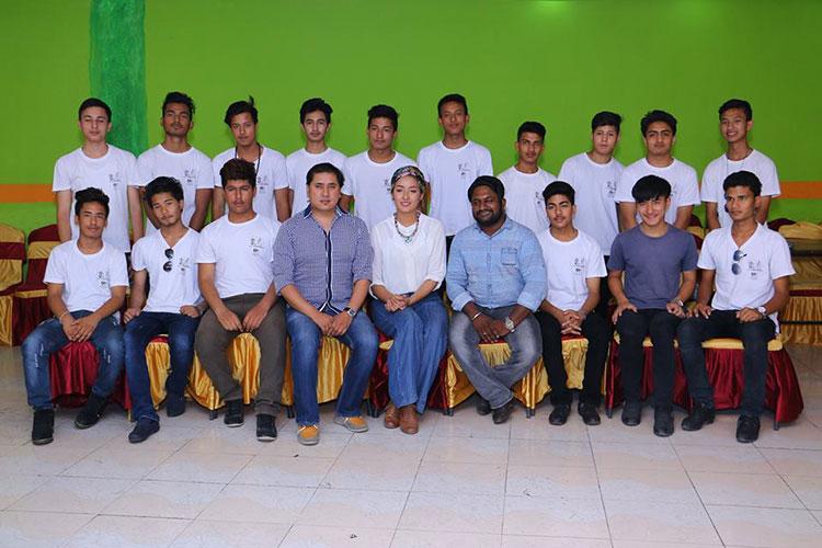 Subin Limbu with Mr SLC Nepal Contestant  (1)