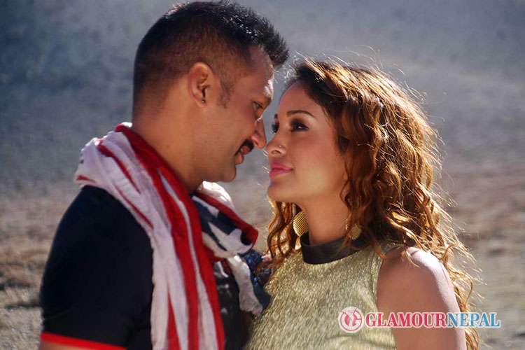 Nikhil Upreti and Anu Shah Nepali Movie Bhairav Photo