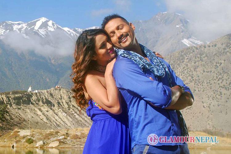 Nikhil Upreti and Anu Shah Nepali Movie Bhairav Photo