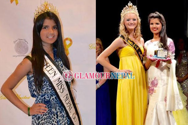 Garima Gyawali holds Talent awards at Global United Pageant 2015