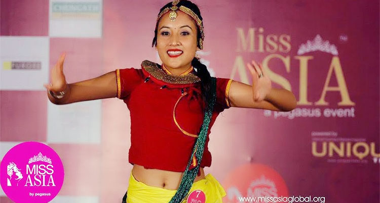 Grishma Basnet winner Miss Talent at Miss Aisa 2015