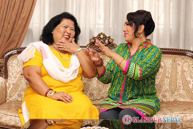 Lyricist Usha Serchan and Singer Devika Bandana Pradhan
