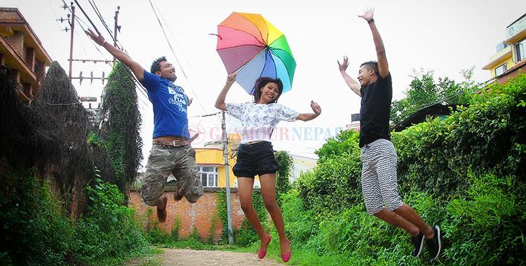 Nepali Model Mansoon Season