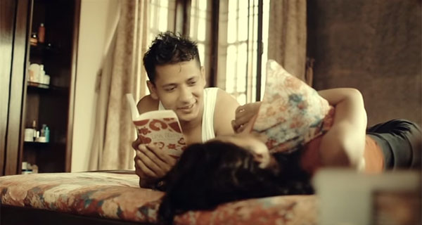 bibek sitaula music video screen shot