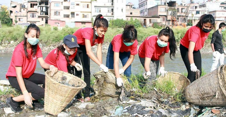 Miss Teen College Bagmati River Cleaning