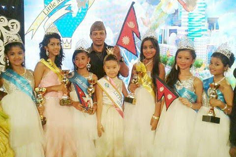 Smriti Neupane crowned Little Miss World Nepal 2015