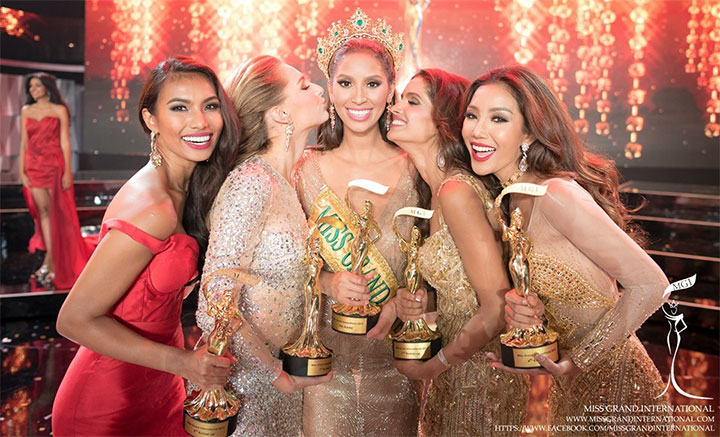 Grand International ends with Dominican Republic's 20 years of age Anea Garcia being crowned as Miss Grand International 2015