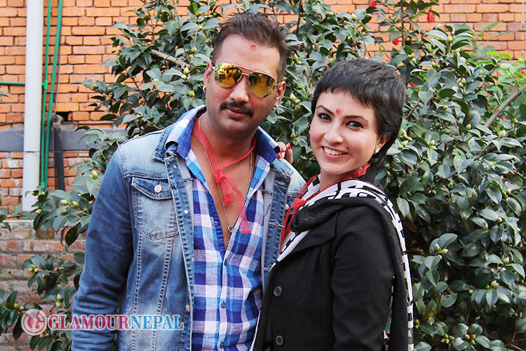 Actor Nikhil Upreti Actress Nisha Adhikari