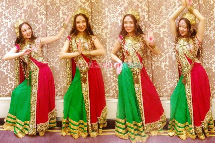 Nirisha performed a dance Bajrayogini at Miss Tourism Queen International 2015