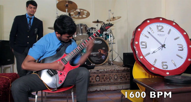 Nirvana Bista World's Fastest Guitar Player