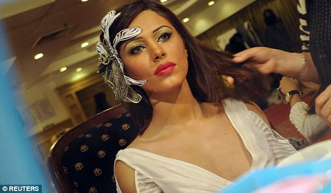Pakistani fashion model Ayyan Ali