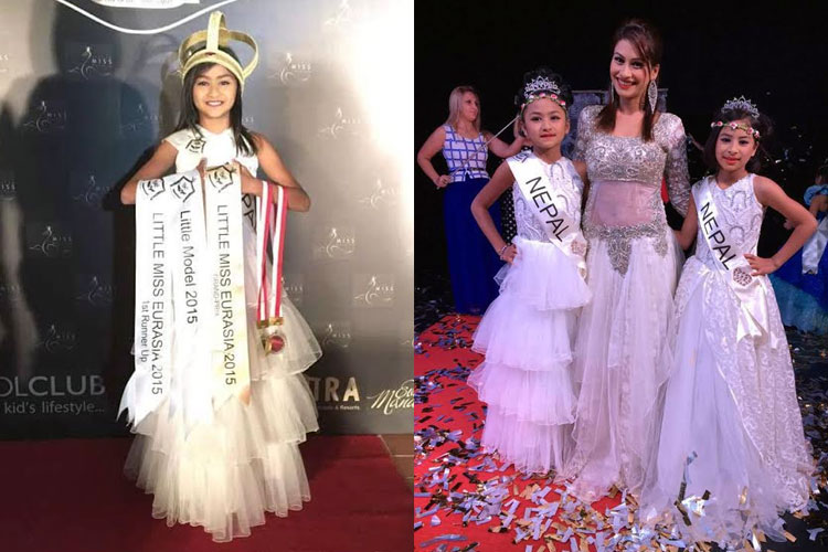 Sambridhi and Samyukti grab awards at Little Miss and Mister Eurasia 2015