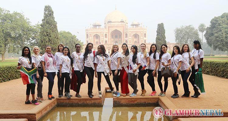 Miss Heritage International beauties walked on the heritage sites