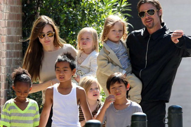 Angelina Jolie, Brad Pitt's kids