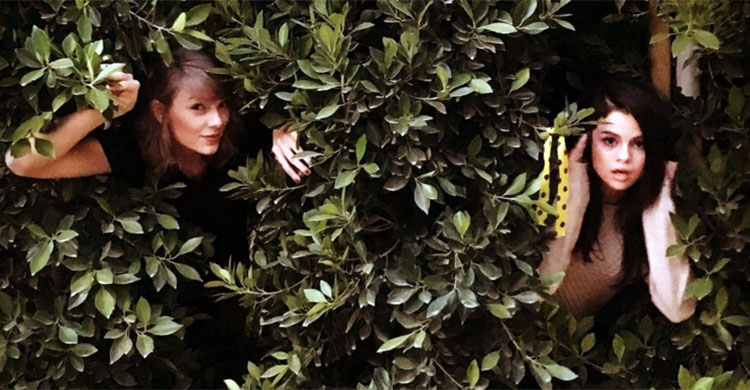 Taylor Swift and Selena Gomez recreate Out of the Woods music video