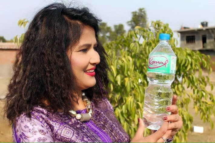 Singer Komal Oli launches drinking water business