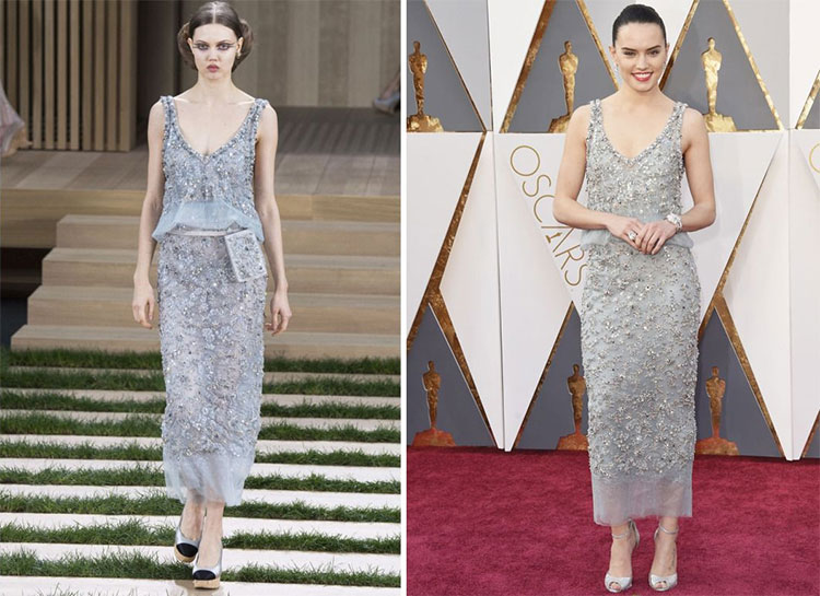Daisy Ridley in Chanel Couture 2016