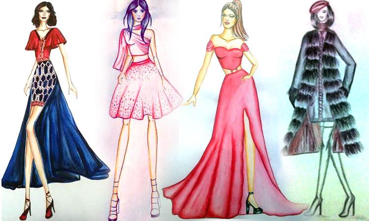 Fashion designers' creation for Valentine's Day