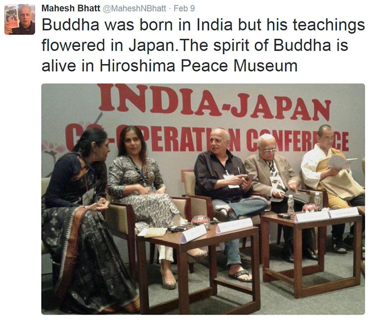 Mahesh bhatt buddha twit
