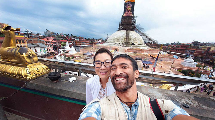 Hollywood actress Michelle Yeoh in Nepal