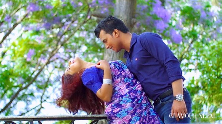 Screen Shot of the music video - Actress Keki Adhikari and Dr. Bikrant Mehta