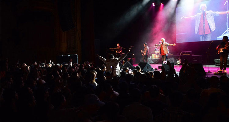Nepali music band Nepathya performs at the Warfield Theatre in San Francisco, California, on Saturday, October 1, 2016. Photo: Nepalaya