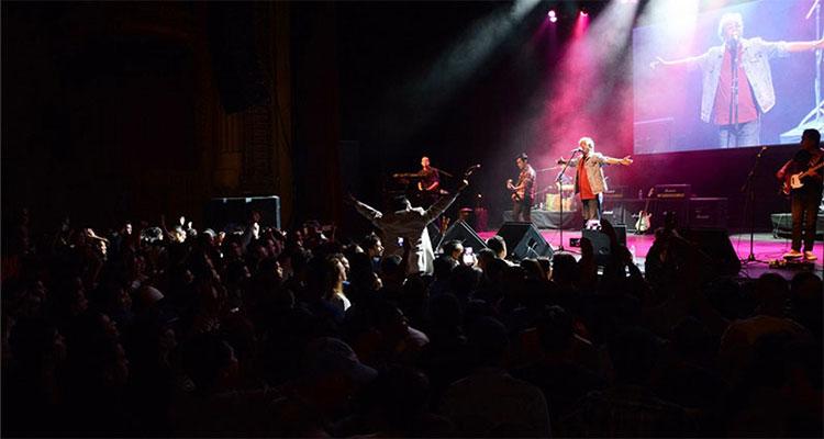 Nepali music band Nepathya performs at the Warfield Theatre in San Francisco, California, on Saturday, October 1, 2016. Photo: Nepalaya
