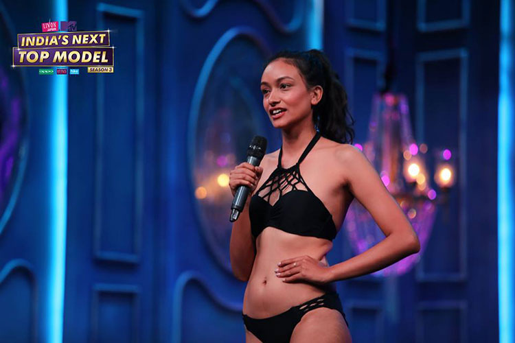 Sabita Karki competing at India's Next Top Model season 3