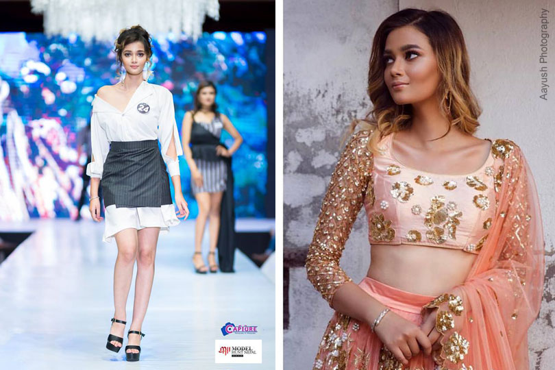 Aditi Adhikari competing at Miss Supermodel Globe 2019
