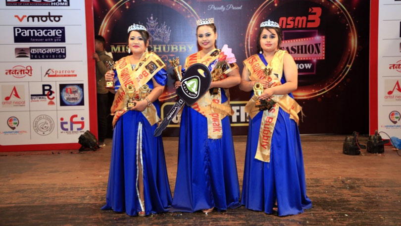 Rabina Pokharel chosen as Miss Chubby Model 2019