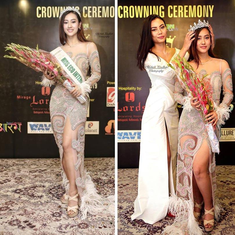Muna crowned as Miss Eco International Nepal 2019