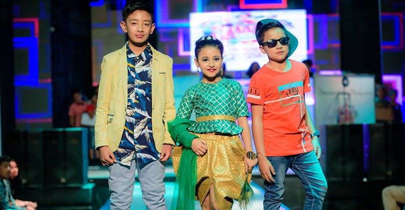 The kids flaunted the dresses created by designer Rekha Modi Mitruka from Page 3 haute couture and designer Robin Pariyar. The show named as Little Stars Runway 2019 was presented by Innovation event management and was directed by Dikpal Karki.