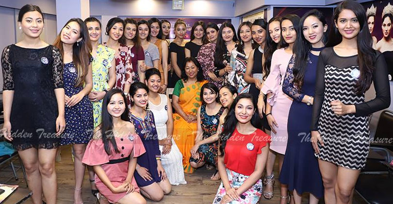 Miss Nepal 2019 - Participants / Image Courtesy: The Hidden Treasure