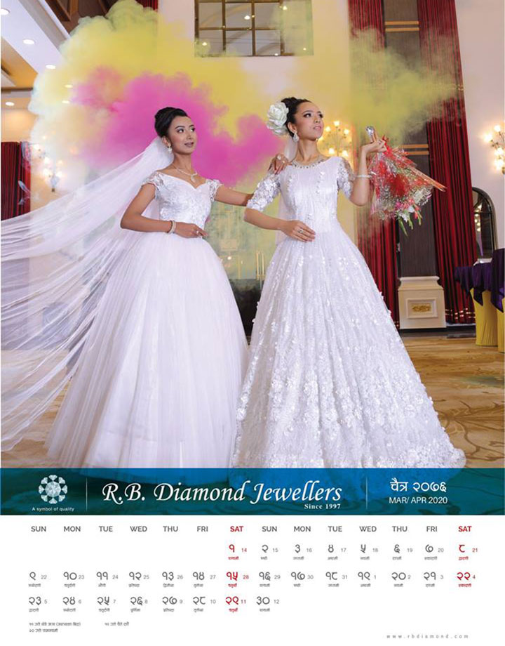 Miss Nepal 2019 Beauties Featured in the Calendar