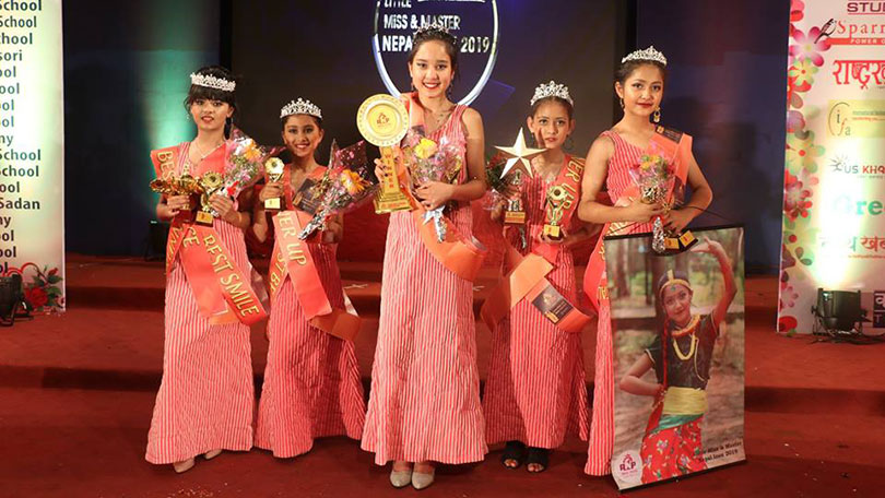 little miss and master nepal icon 2019 winners senior girls